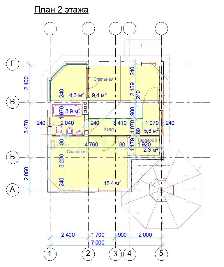 План 2го этажа